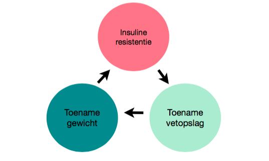 Gewichtstoename bij insulineresistentie