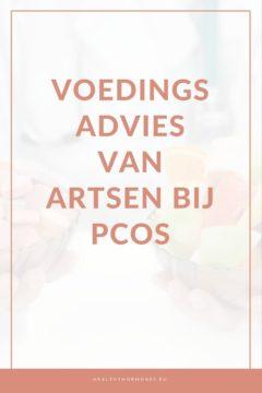 Voedingsadvies artsen PCOS